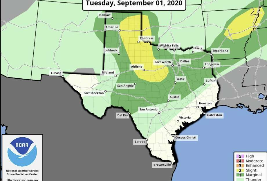 San Antonio could see some thunderstorm and shower activity late tonight through Wednesday morning. Photo: Courtesy NWS