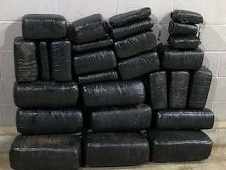 U.S. Border Patrol agents seized these marijuana bundles at the Interstate 35 checkpoint. Photo: Courtesy Photo /U.S Border Patrol