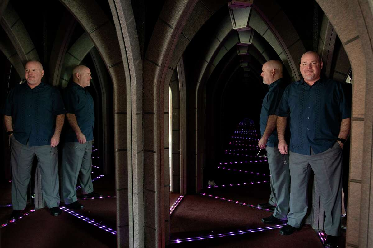 Davis Phillips, president and CEO of Phillips Entertainment Inc., stands in The Amazing Mirror Maze. The company had to shut down its attractions in March. They reopened in June, but the number of tourists is down 67 percent.