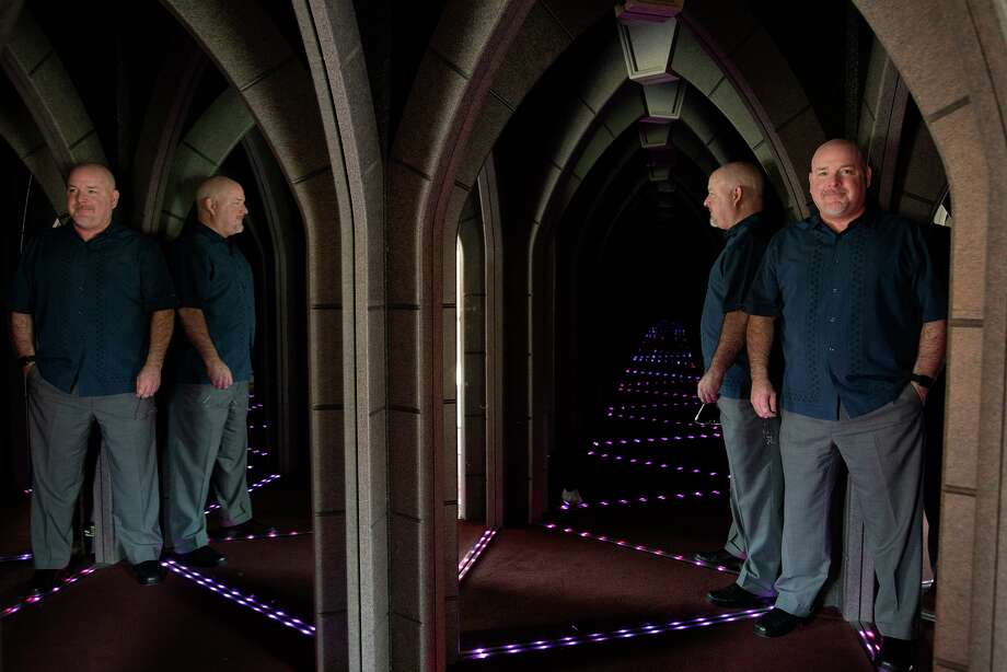 Davis Phillips, president and CEO of Phillips Entertainment Inc., stands in The Amazing Mirror Maze. The company had to shut down its attractions in March. They reopened in June, but the number of tourists is down 67 percent. Photo: Lisa Krantz /Staff Photographer / San Antonio Express-News