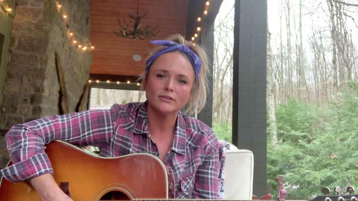 Miranda Lambert performs on her back porch during