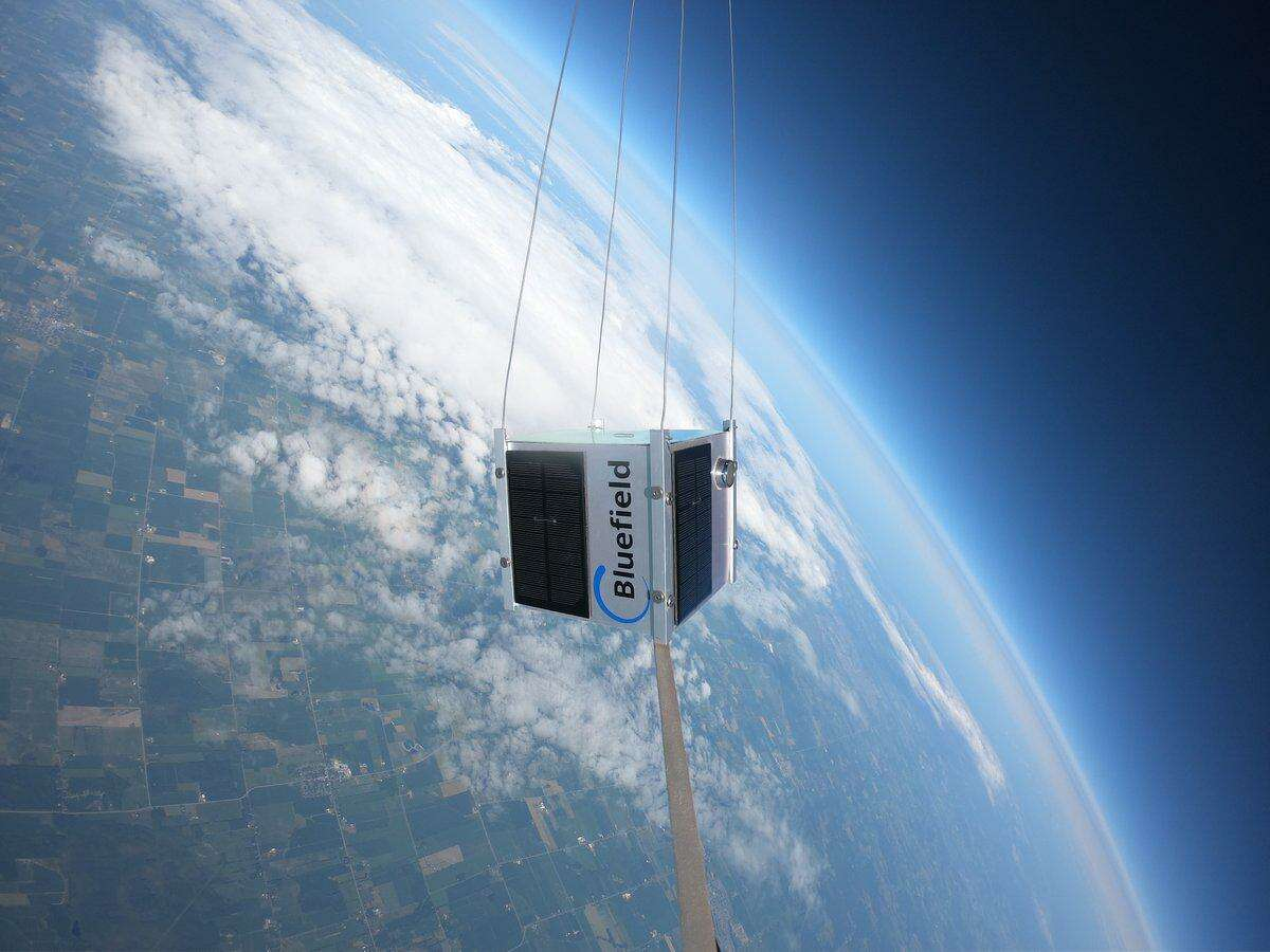 Bluefield conducts a balloon test of its methane-detection technology over Canada last July.
