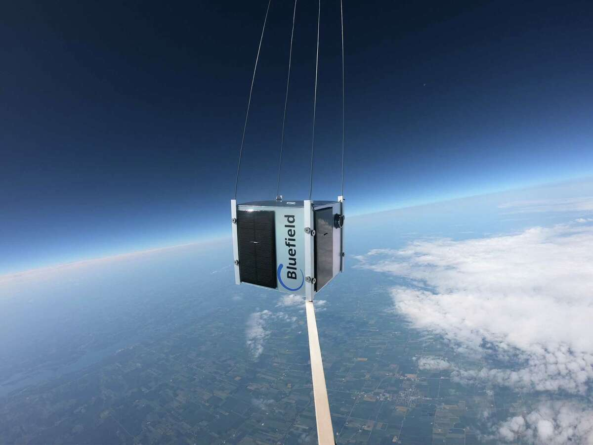 Bluefield conducts a balloon test of its methane-detection technology over Canada, last July.