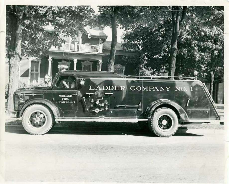A new Midland Fire Department truck in 1946. (Photo provided)