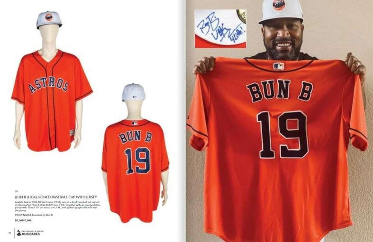 Bun B contribute a 1986 Houston Astros jersey and baseball cap.