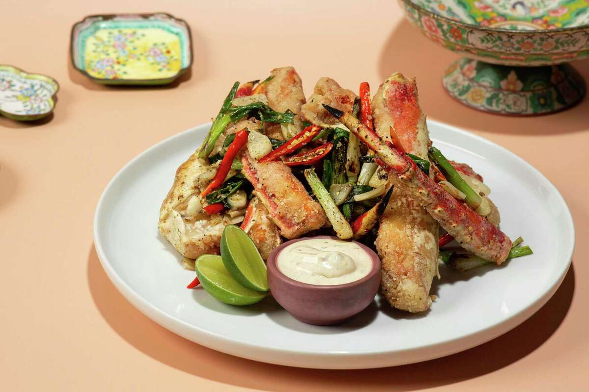 Salt and pepper king crab is part of the menu at Best Quality Daughter, an Asian-American restaurant set to open Friday at the Pearl.