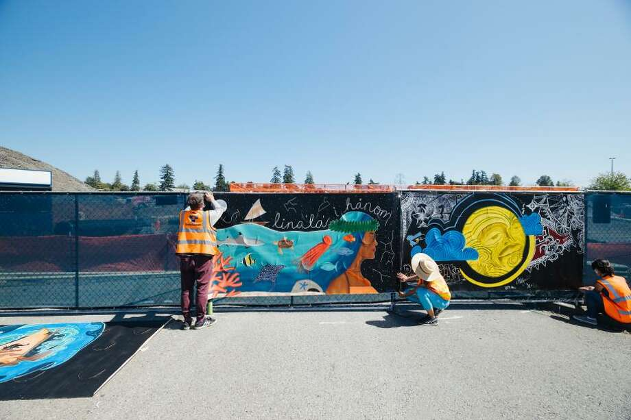 Sound Transit says vandalism of murals may be racially motivated Photo: Sound Transit