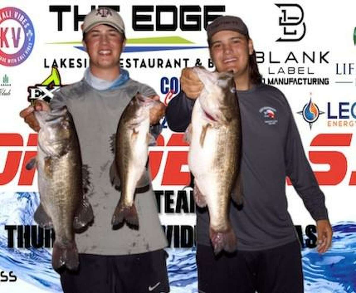 Jack Northcott and Aiden Neely won the CONROEBASS Tuesday Night tournament with a stringer weight of 16.00 pounds.