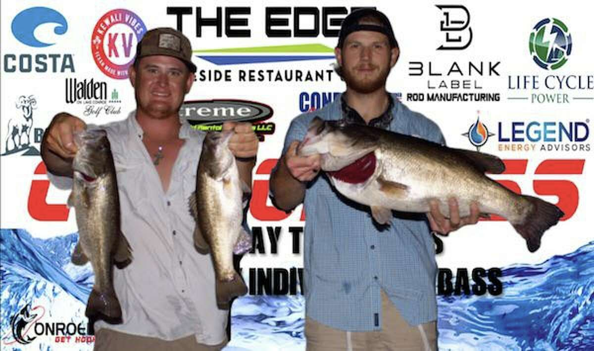 Clayton Gunter and Daniel Holmes came in second place in the CONROEBASS Tuesday Night tournament with a stringer weight of 15.11 pounds.
