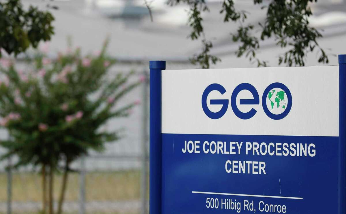 The Joe Corley Detention Facility processing center is seen, Friday, July 17, 2020, in Conroe.