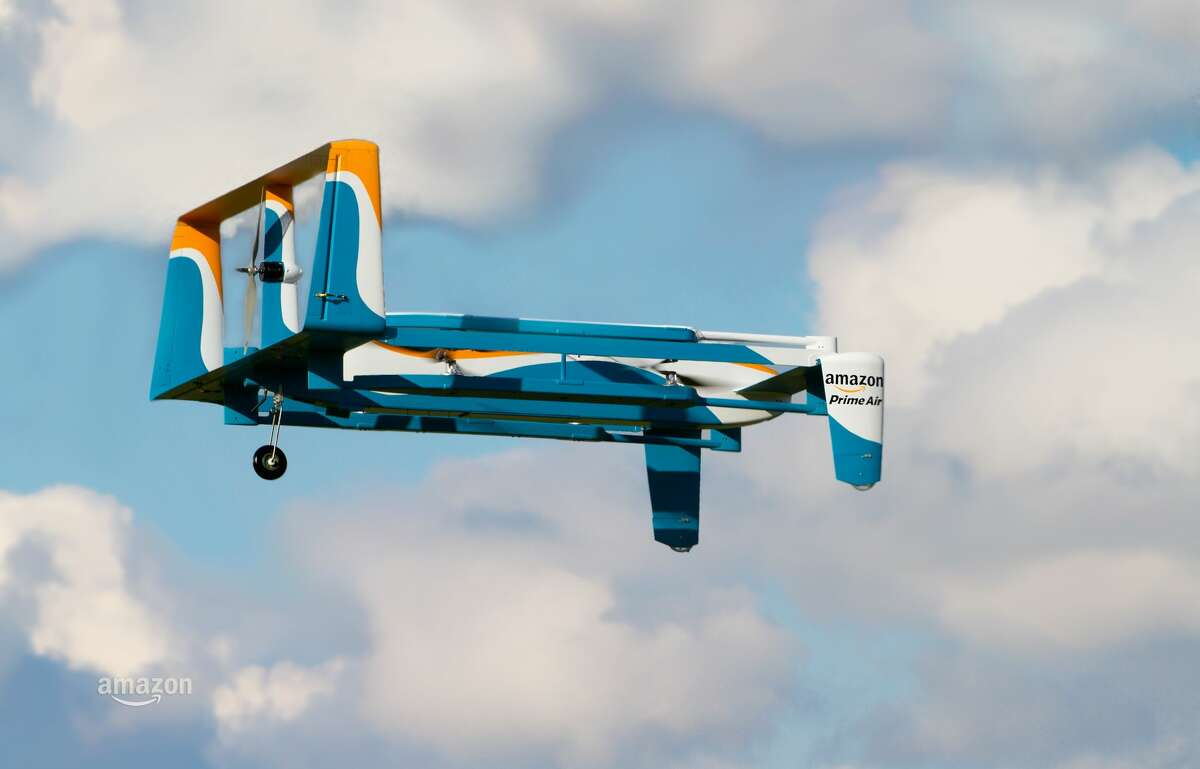"""Amazon has yet to finalize a drone design and said the """"look and characteristics of the vehicles will continue to evolve over time."""""""