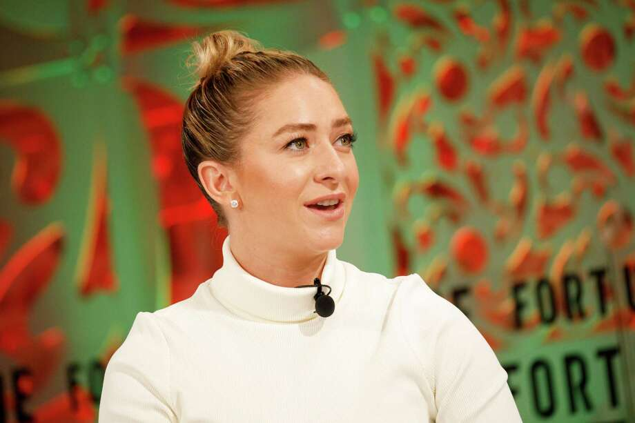 Whitney Wolfe Herd, founder and chief executive officer of Bumble Trading Inc. The dating app, which lets women make the first move, is preparing for an initial public offering that could come early next year, according to people familiar with the matter. Photo: Patrick T. Fallon / Bloomberg / © 2018 Bloomberg Finance LP