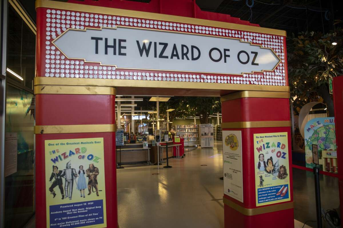 The Wizard of Oz educational exhibit, as seen on Sept. 2, will open Sept. 8. at Midland County Centennial Library.