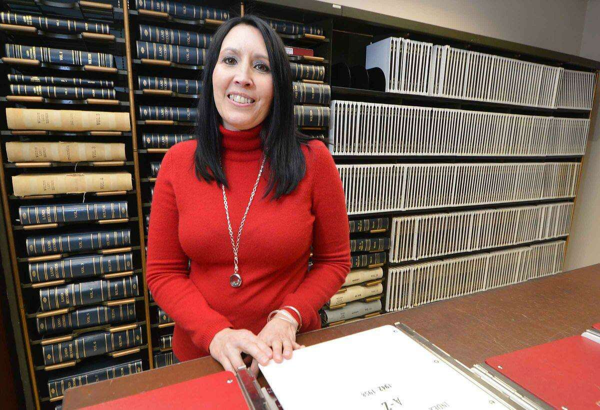 Town Clerk Lori Kaback (shown when she was hired by the town in 2015) is busy getting ready for the upcoming presidential election in November.