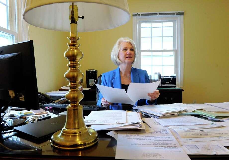 New Fairfield First Selectman Pat Del Monaco. Photo: Carol Kaliff / Hearst Connecticut Media / The News-Times