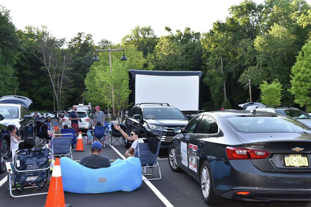 The drive-in at Stamford Museum & Nature Center.