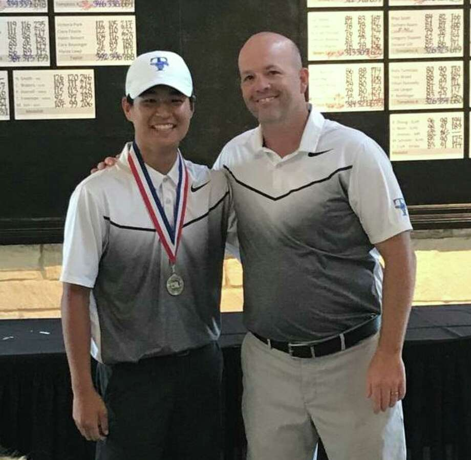Katy Taylor freshman Kevin Kim won the District 19-6A boys golf championship, carding consecutive rounds of 75 to win by one stroke. Kim advanced to the regional tournament. Photo: Katy Taylor High School