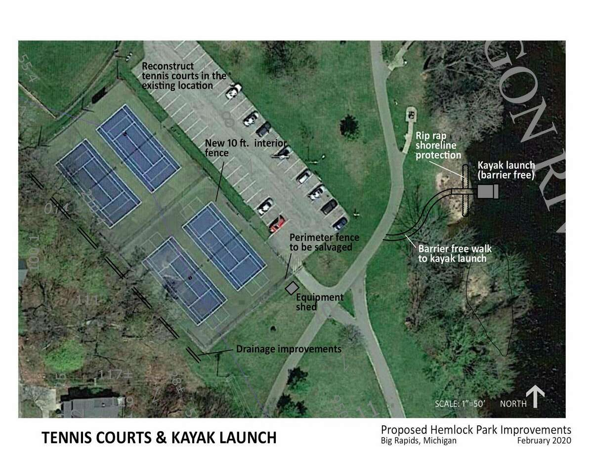 Recently announcing their plans for improvements to Hemlock Park, City Manager Mark Gifford said the Hemlock Park Improvement Project has raised over $225,000 in 45 days. Improvement projects include a new kayak launch, tennis courts, splash pad, and more. (Courtesy photo)