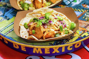 Tacos A Go Go owner Maribel Gomez and Riel chef-owner Ryan Lachaine created the Gulf Coast Fried Shrimp Taco. Sales of the month-long special benefit a local nonprofit.