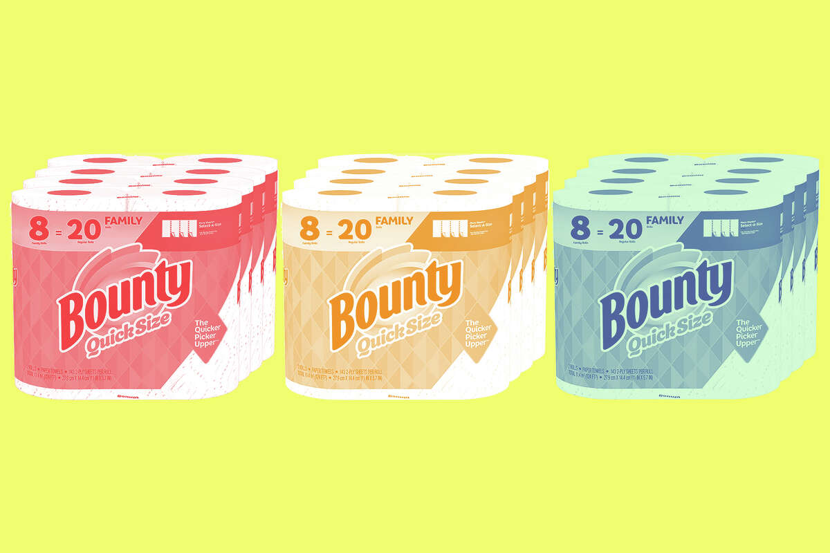 Various sizes of Bounty paper towels continue to be sold out or priced higher than average because of increased demand amid COVID-19.