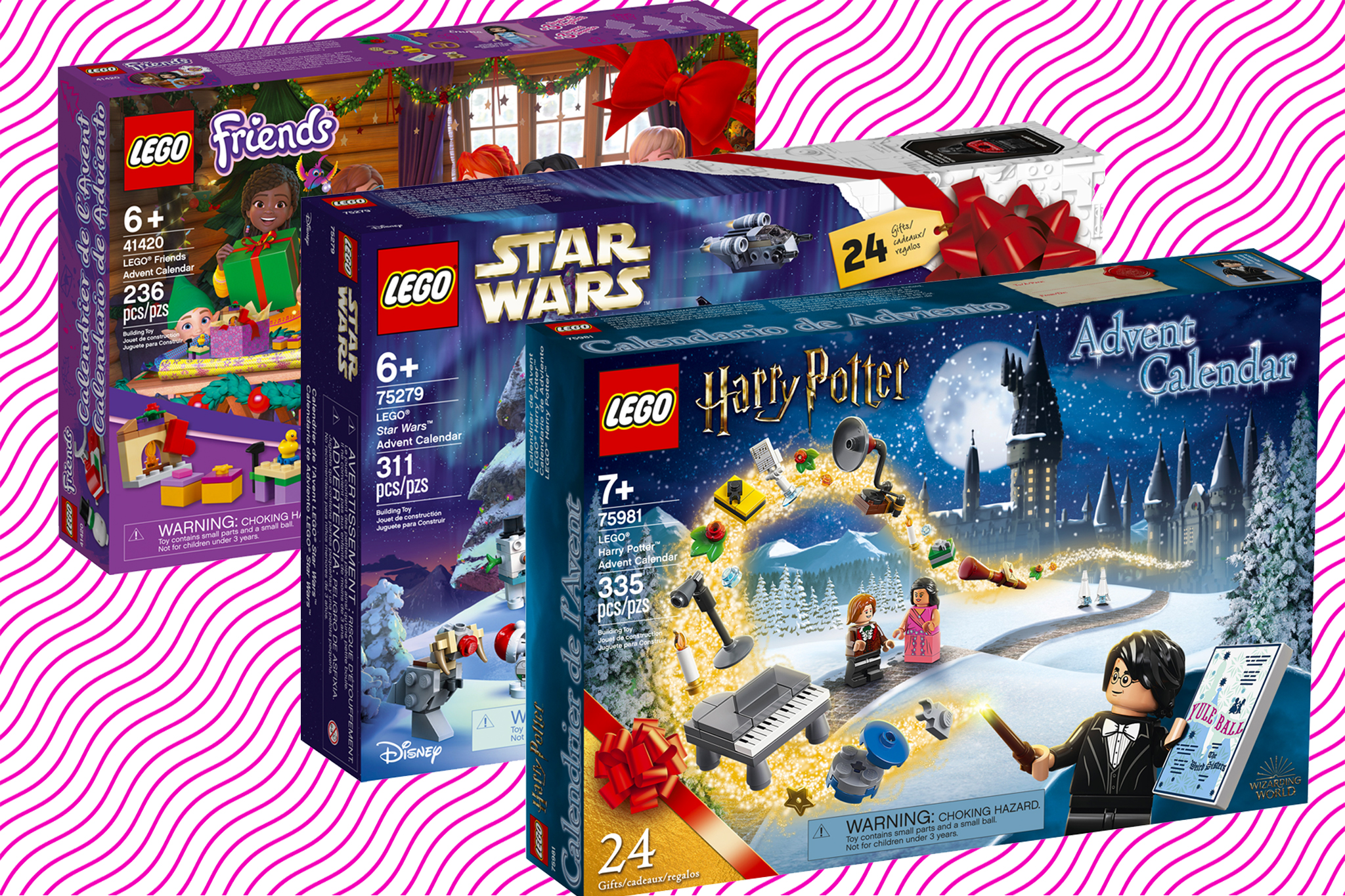 LEGO has 4 advent calendars and 3 of them are super cool