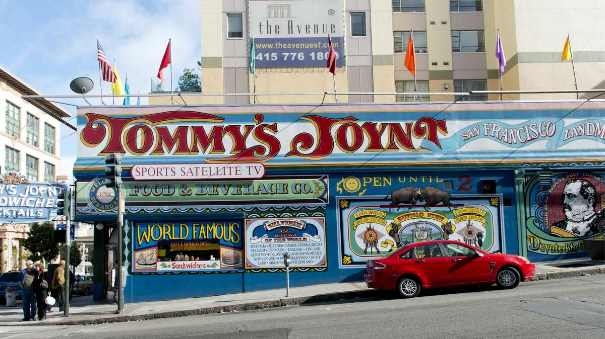 Tommy's Joynt, at Van Ness and Geary, on Route 101, San Francisco, California.