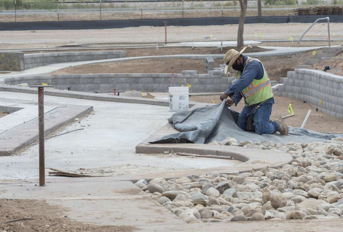 Work continues 09/02/2020 at the new and improved Green Acres Miniature Golf off Hwy 80 and Todd Road. Tim Fischer/Reporter-Telegram