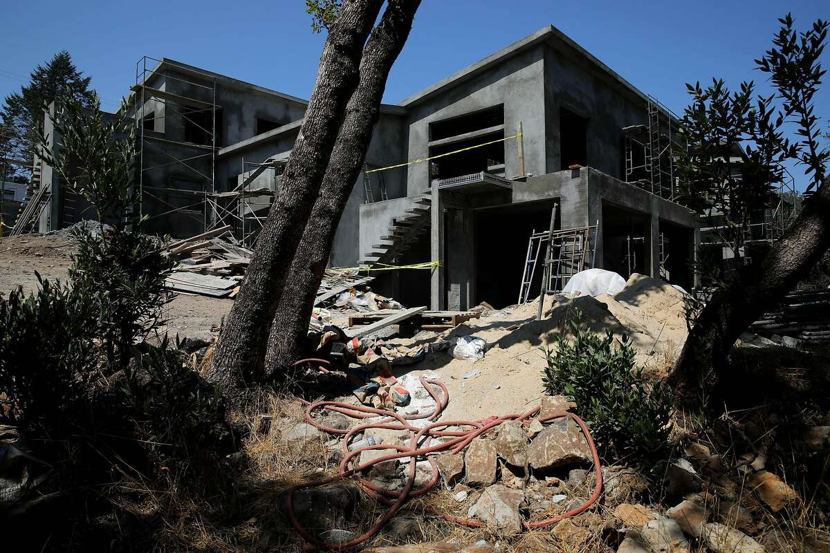 Exterior of 2877 Rollo Rd. on Thursday, August 27, 2020, in Santa Rosa, Calif. Sara Harrison Woodfield is the architect of the home under construction.