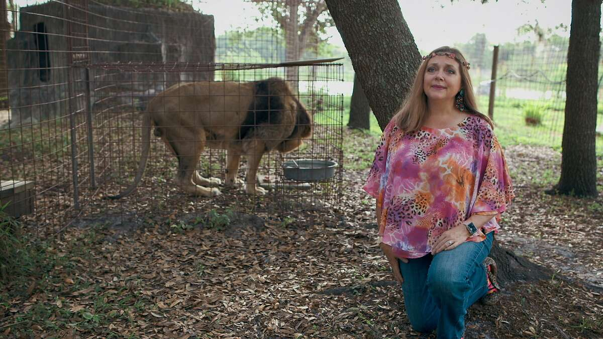 """Big Cat Rescue founder Carole Baskin in a still from Netflix's """"Tiger King."""""""