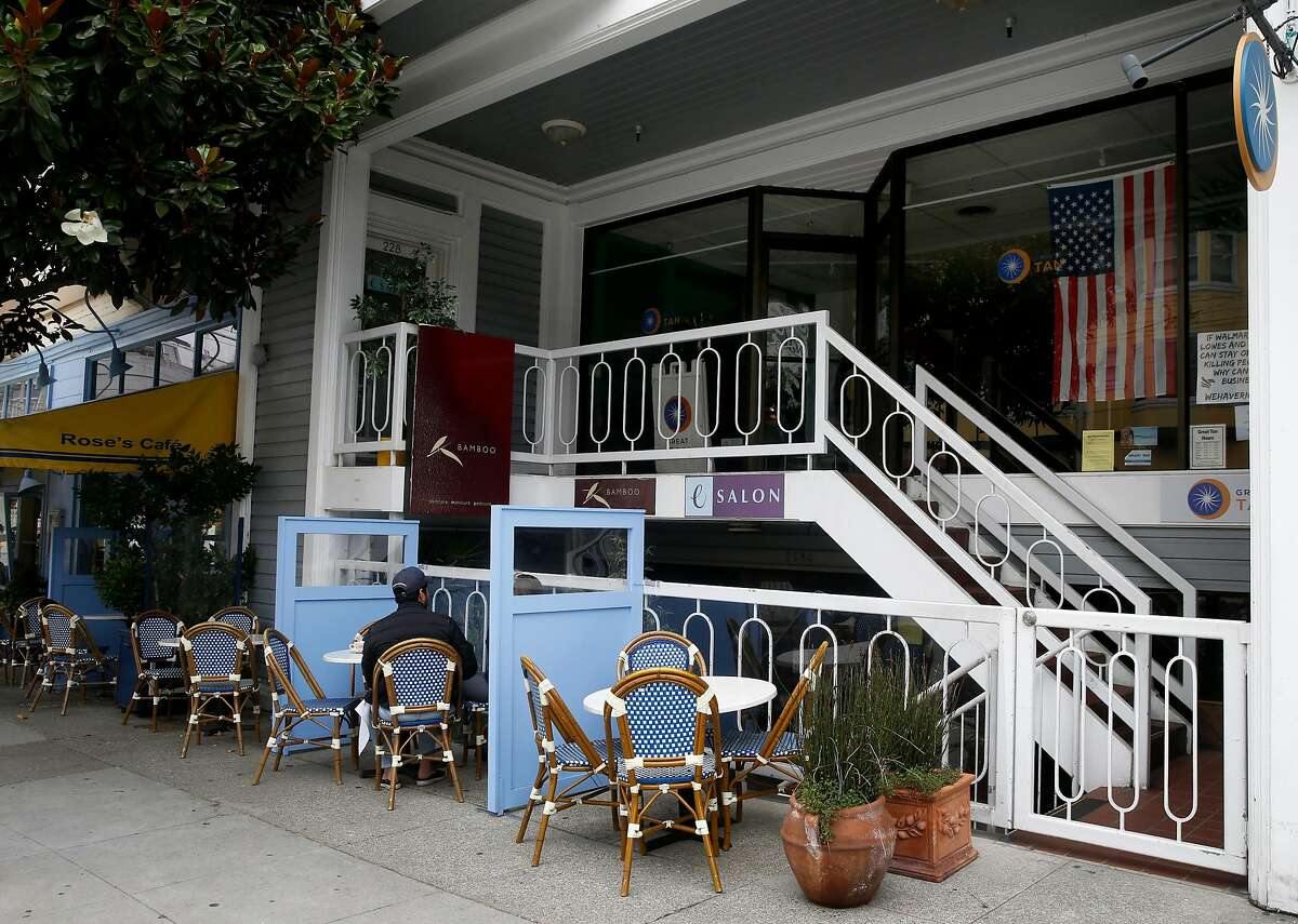 The eSalon hair studio remains closed on Union Street in San Francisco, Calif. on Wednesday, Sept. 2, 2020. Rep. Pelosi was captured in a video image having her hair washed and styled indoors at a Marina District salon despite local ordinances restricting the activity during the coronavirus pandemic shutdown.