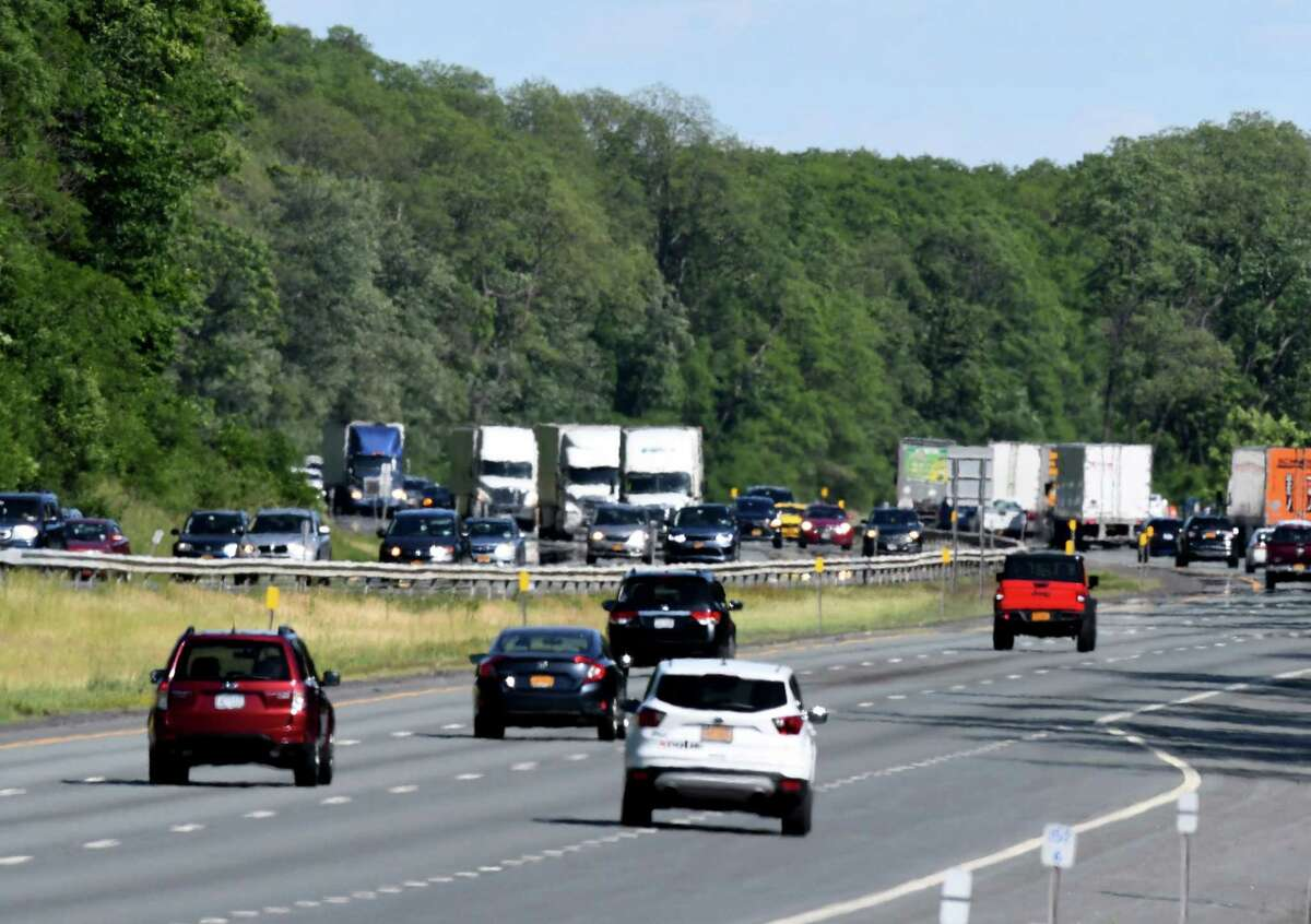 New York State Thruway in June 2020. (Will Waldron/Times Union)
