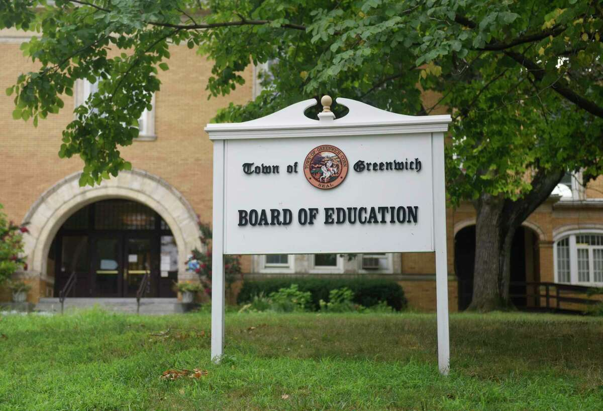 The Greenwich Board of Education Building in Greenwich, Conn., photographed on Thursday, Aug. 13, 2020.