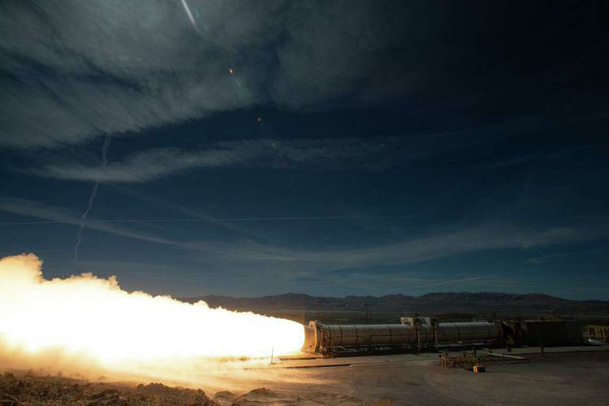 NASA and Northrop Grumman conducted a full-scale static fire test of a solid rocket booster in Promontory, Utah, on Sep. 2, 2020. During the test, the 154-foot-long, five-segment rocket motor fired for just over two minutes, producing 3.6 million pounds of thrust. Two boosters will be attached to NASA's Space Launch System rocket that will carry astronauts to the moon.