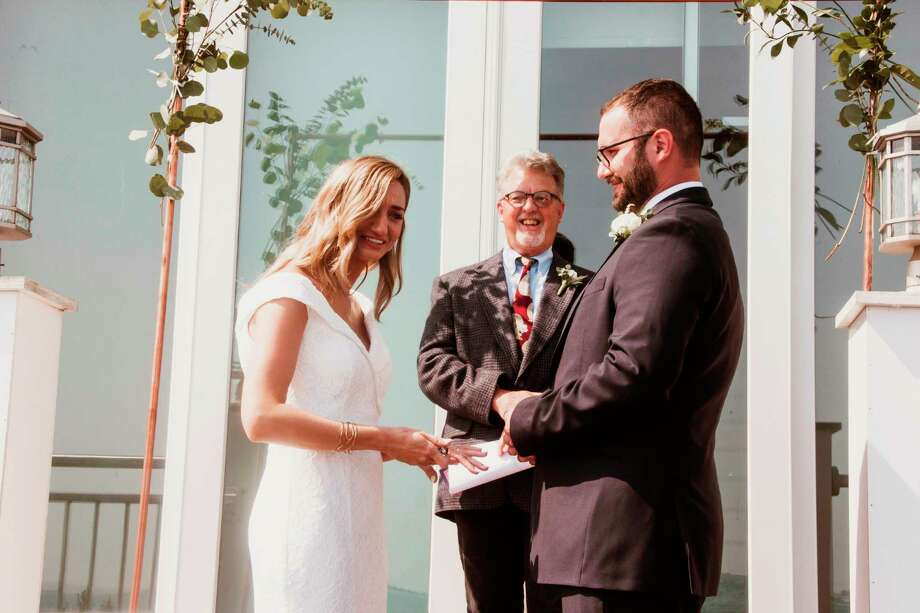 Shelley and James Budreau were married this past June. James surprised Shelley during the ceremony with her family's wedding ring. (Photo provided)