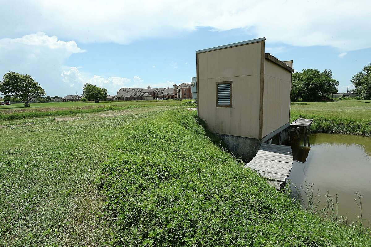 A pumping station sits between a pond and the drainage canal which takes pumped water from the Babe Zaharias Memorial Golf Course to DD7. Problems with broken pipes and overflowing ponds are among the repair issues facing the Port Arthur City Council as they seek to address the flooding and drainage problems throughout the city. The pipes running through the course haven't been replaced since the facility was built 50 years ago and several have broken, creating overflow to retention ponds and opening sink holes at spots throughout the course. Friday, August 10, 2018 Kim Brent/The Enterprise