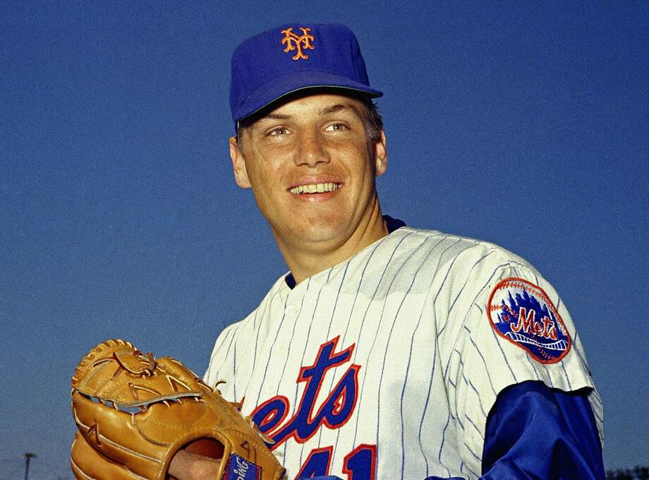 FILE - In this March 1968 file photo, New York Mets pitcher Tom Seaver poses for a photo, location not known. Seaver, the galvanizing leader of the Miracle Mets 1969 championship team and a pitcher who personified the rise of expansion teams during an era of radical change for baseball, has died. He was 75. The Hall of Fame said Wednesday night, Sept. 2, 2020, that Seaver died on Aug. 31 from complications of Lewy body dementia and COVID-19. (AP Photo, File) Photo: Anonymous / Associated Press