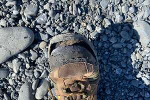 If you are thinking of hiking the Lost Coast, you'll want better shoes than this.