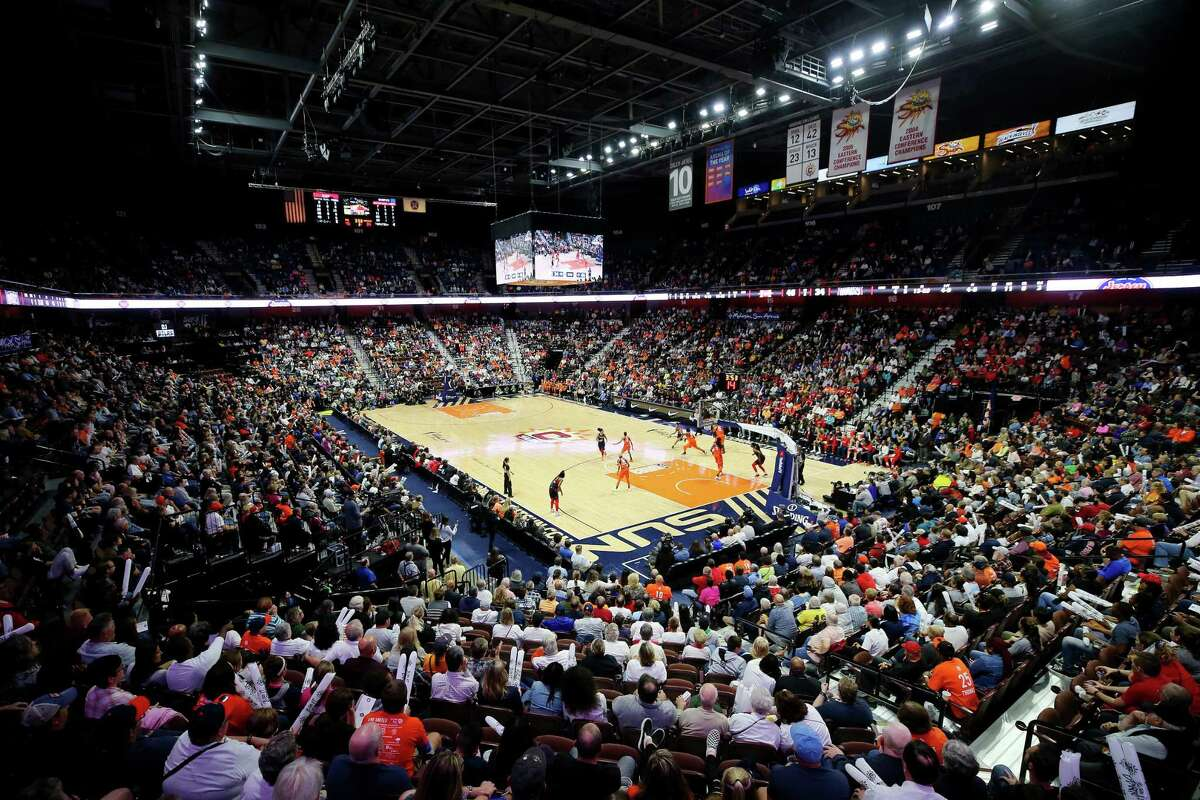 A general view of Mohegan Sun Arena during Game 4 of the 2019 WNBA Finals between the Washington Mystics and Connecticut Sun in Uncasville.