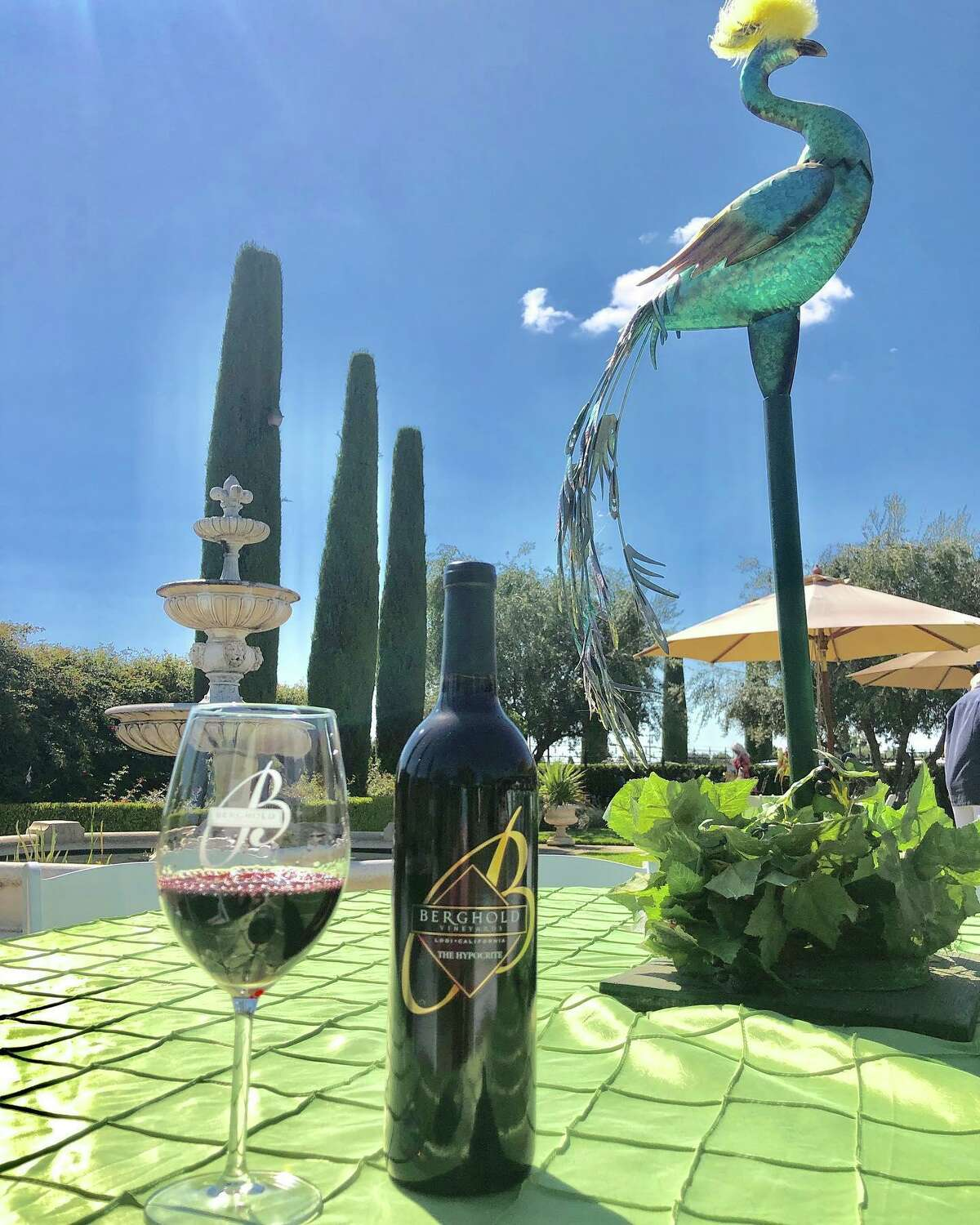 Tastings for groups of up to six are available in the dog-friendly courtyards at Berghold Vineyards.