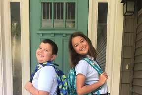 Brooklyn and Andrew Hinkley, 6th and 3rd grade, St. Mary's School