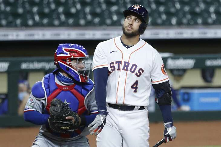 George Springer's struggles continued Wednesday with an eighth-inning strikeout that cost the Astros a chance to add an insurance run in their victory over the Rangers.