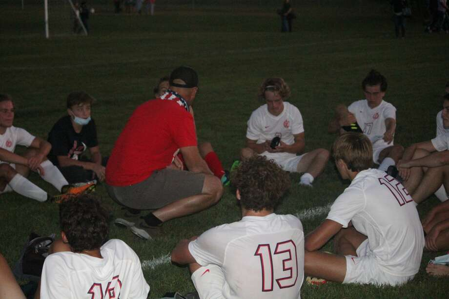 Big Rapids' boys soccer team opened its season on Wednesday on the road at Cadillac with a 2-1 victory. Photo: John Raffel