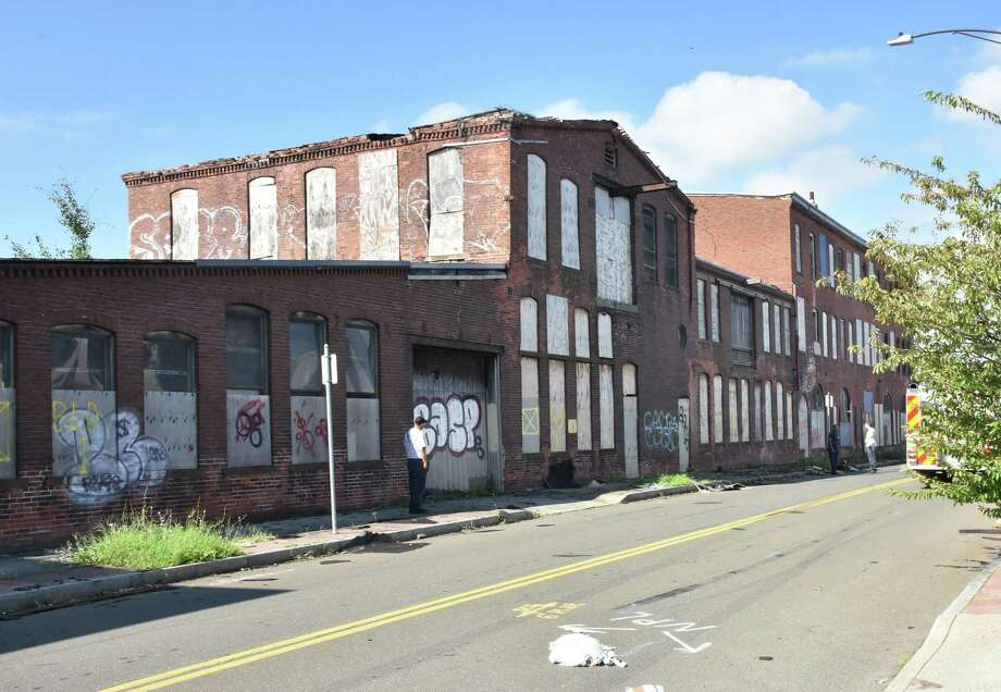 A street view of the Bigelow Boiler factory, 198 River St., New Haven Photo: Robert Grzywacz / Contributed Photo