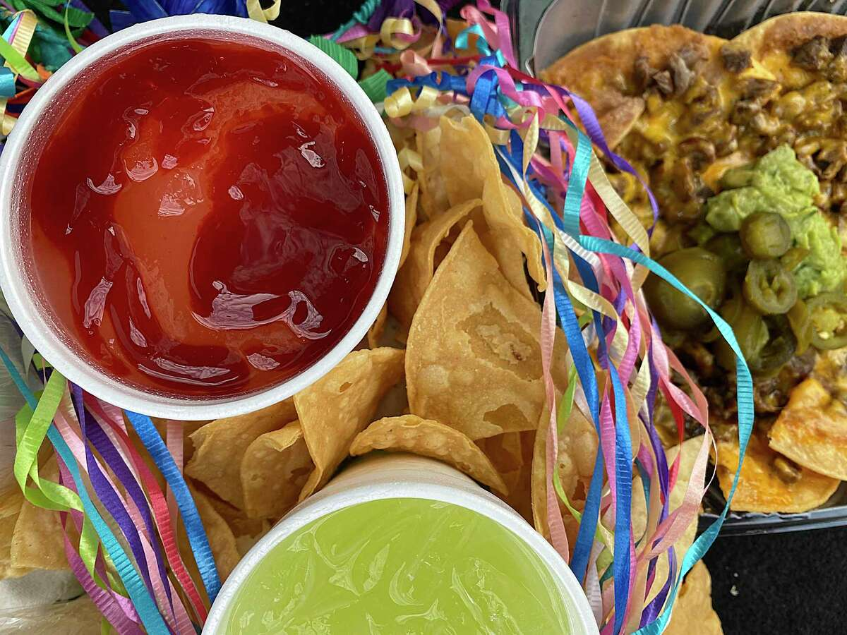 Frozen margaritas and an order of beef nachos from El Mirasol's Blanco Road location.