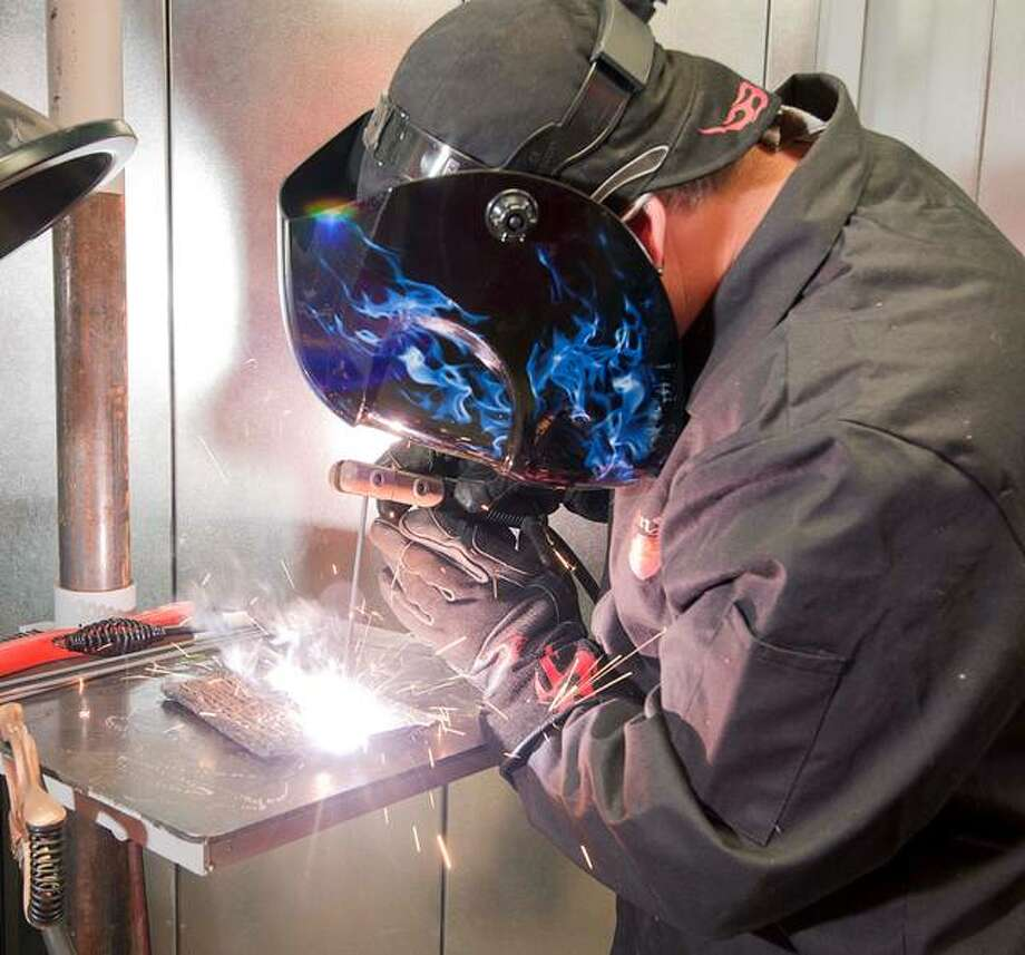 A North Greene High School student gets hands-on training in welding through a partnership between the school and Lewis and Clark Community College. Next spring, the program will be open to the general public.