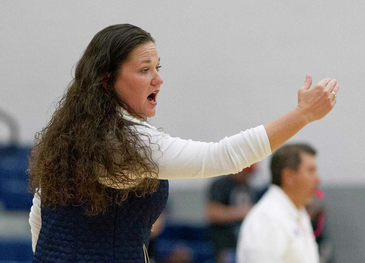 Lake Creek head coach Tommie Lynne Sledge, shown here last season, won her 300th career game Saturday when the Lions topped New Caney. Sledge previously coached at Oak Ridge.
