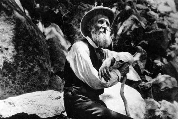 FILE - This 1907 photo provided by the U.S. National Park Service shows naturalist John Muir in Yosemite National Park, Calif. The Sierra Club is reckoning with the racist views of founder John Muir, the naturalist who helped spawn environmentalism. The San Francisco-based environmental group said Wednesday, July 22, 2020, that Muir was part of the group's history perpetuating white supremacy. Executive Director Michael Brune says Muir made racist remarks about Black people and Native Americans, though his views later evolved. (Courtesy of U.S. National Park Service via AP)