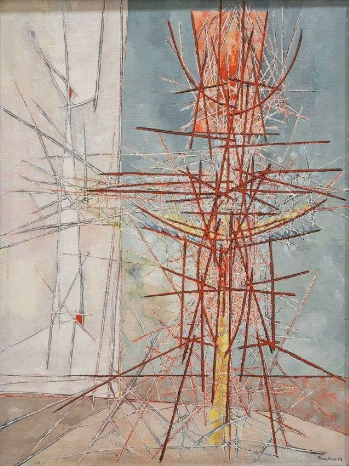 Jimmy Ernst's Untitled, 1958. Oil on canvas.