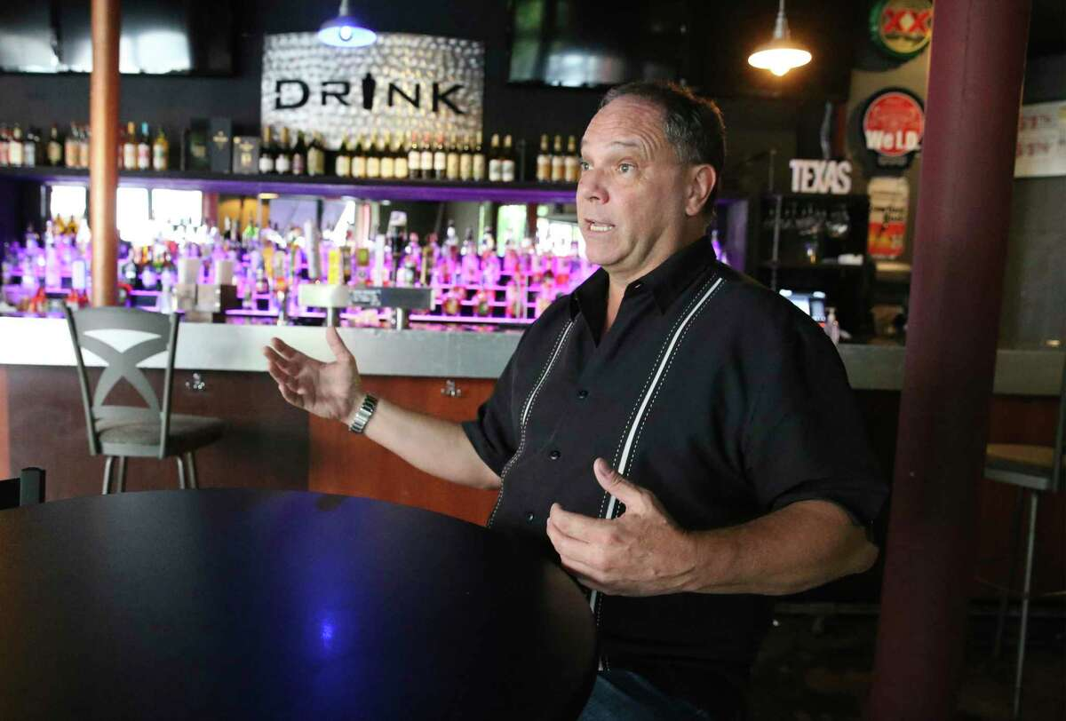 Greg Barrineau, owner of the Drink Texas bar on Navarro street, discusses the issue of forced bar closings inside his establishment.
