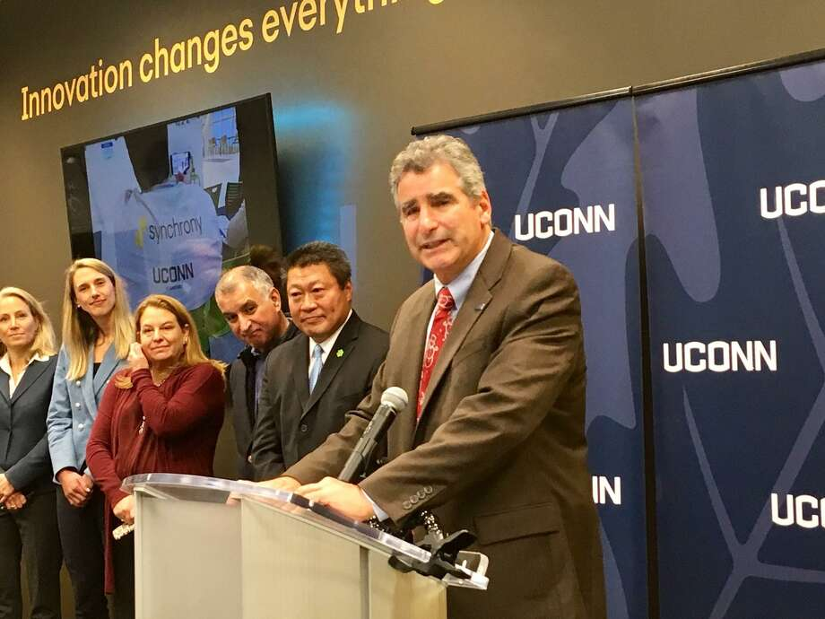UConn President Tom Katsouleas is shown at the opening of the Synchrony Digital Technology Center at UConn Stamford Dec. 16, 2019. Photo: Hearst Connecticut Media File Photo